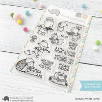Baked with Love - Clear Stamps - Mama Elephant