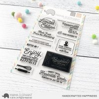 Handcrafted Happiness - Clear Stamps - Mama Elephant